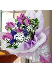 Mauve Tulip  Bouquet