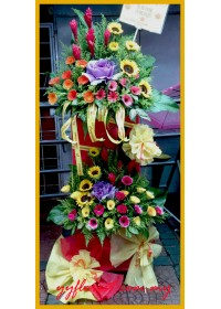 Double Luck Flower Stand