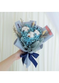 Color Baby Breath & Cotton Bouquet