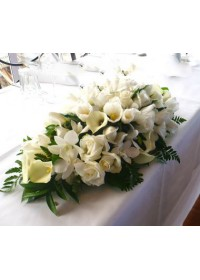 Wedding Table arrangement - White Series