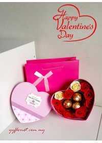 3pc Ferrero Rocher in LOVE Gift Box (Blue /Pink)