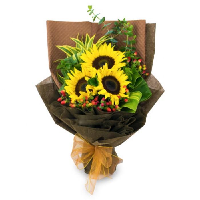 Sun flower bouquet kl florist kuala lumpur online