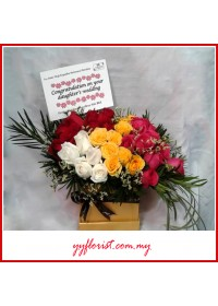 Mix Color Roses Gift Box
