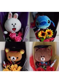 2018 Graduation Soft Toys Bouquet
