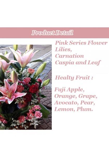 Premium Mix Flowers Fruit Basket
