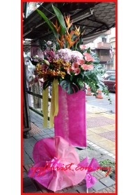 Blooming Pink Flower Stand