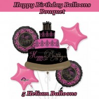 Happy birthday Balloons Bouquet Set A