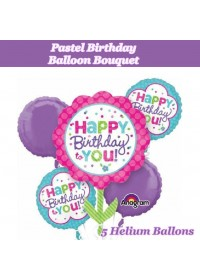 Pastel Birthday Balloon Bouquet