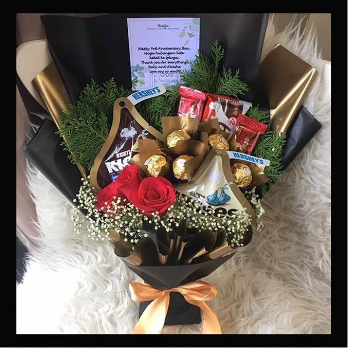 Mix Chocolate Roses bouquet| KL online Florist| PJ florist| kedai ...