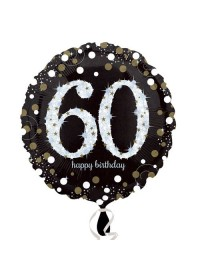 Sparkling Birthday Number Balloon - Age 60