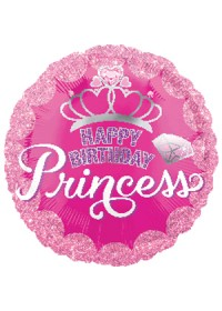 Princess Crown & Gem Birthday Balloon