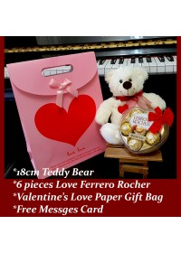 Love Teddy Bear & Ferrero Rocher Chocolate Gift Set