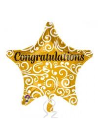 Congratulations Sophisticated Star Standard Foil Balloon