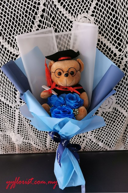 Simple Bear Graduation Bouquet
