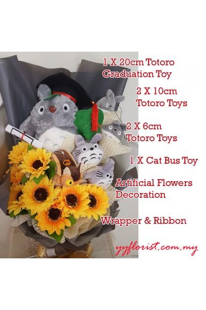 Totoro Premium Graduation Bouquet
