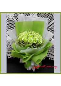 Green soap Roses Bouquet