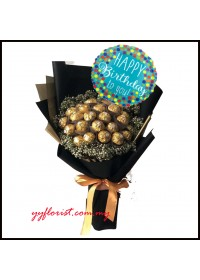 24 pieces  Ferrero Rochers Chocolate Birthday Bouquet