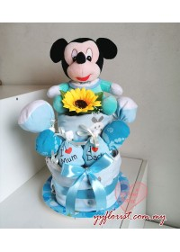NEW BORN DIAPERS CAKE HAMPER- MICKEY MOUSE
