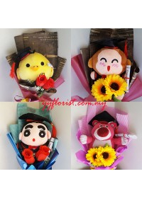 Simple Graduation Toys Bouquet B