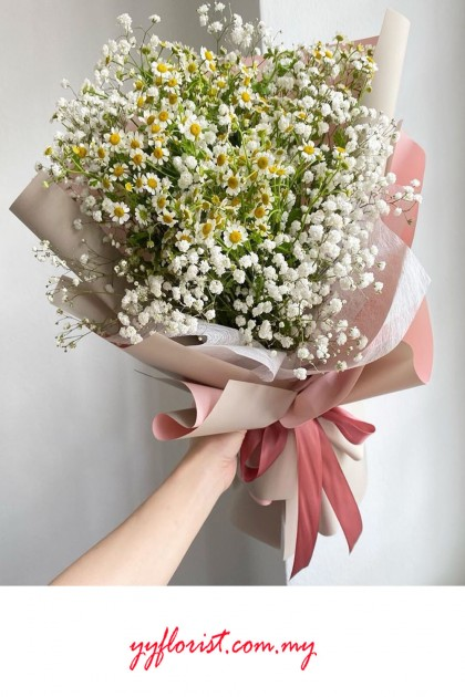 Chamomile Baby Breath Bouquet