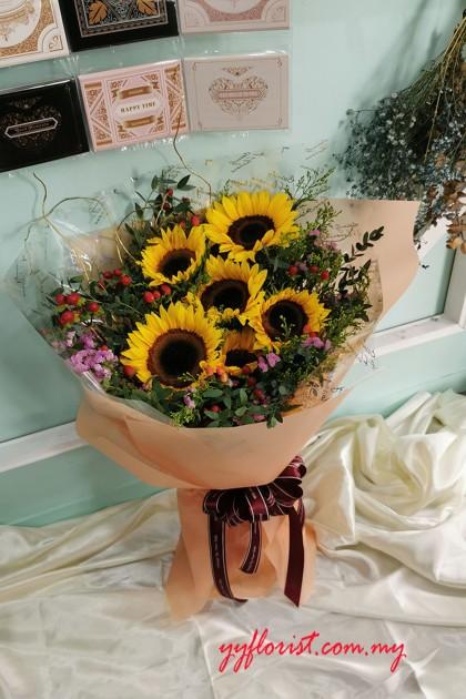 Premium Bouquet - Sunflower Flowers 03