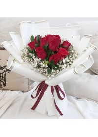 Basic Red Roses Bouquet
