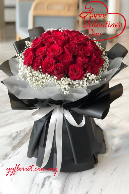 Forever Love -99 Stalk Roses Bouquet - Red Roses