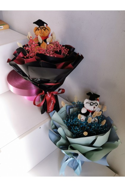 Mini Graduation Baby Breath Bouquet