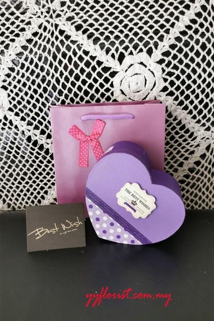 Love Chocolate gift set- purple