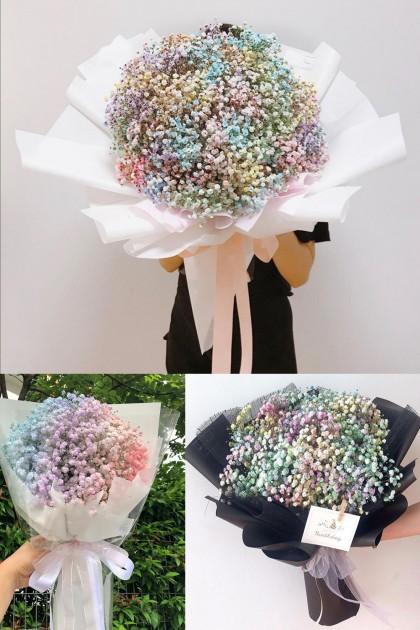 Color Baby Breath Bouquet 06