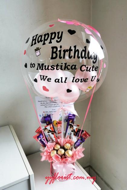 Bucket Chocolate with Hot air balloon