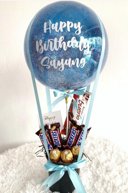Bucket Chocolate with Hot air balloon