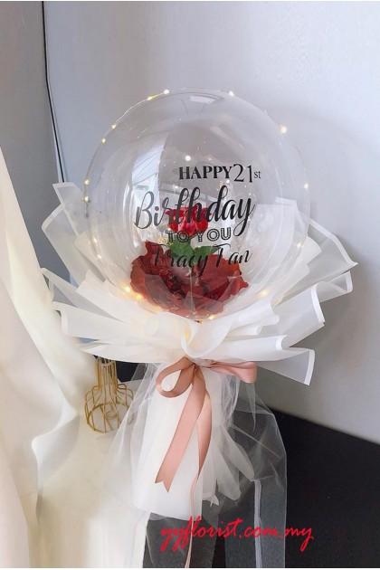 Bubble Balloon Bouquet - Roses