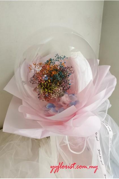 Bubble Balloon Bouquet - Color Baby Breath