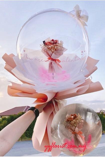 Bubble Balloon Bouquet - Money Roses