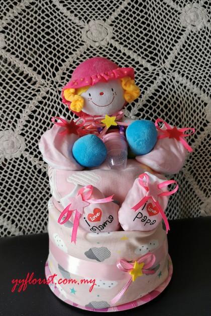 Little Girl Diaper cake