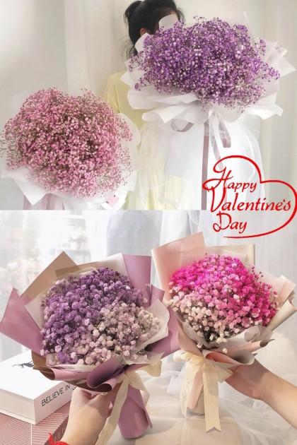 Purple  Baby Breath Bouquet