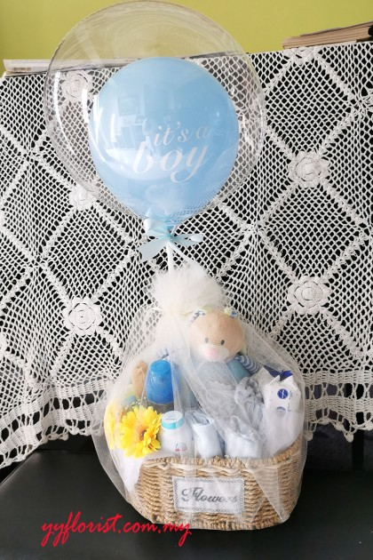 New Born Basket Basic - Baby Boy