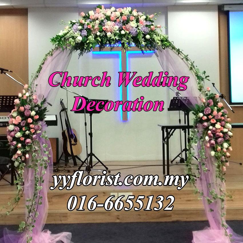 Wedding church decor kl florist kuala lumpur online florist wedding decoration junglespirit Gallery
